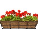 CobraCo DPBCB24-B 24-Inch Canterbury Adjustable Deck Railing Planter