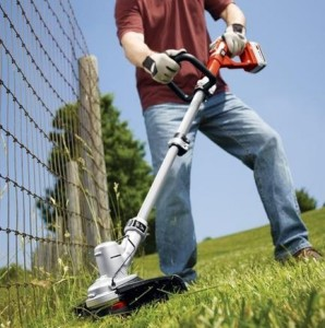 Using Electric String Trimmer