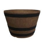 Whiskey Round Barrel Planter
