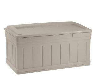 Suncast DB9750 Extended Deck Box with Seat