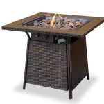 Uniflame GAD1001B LP Gas Outdoor Firebowl with Tile Mantel